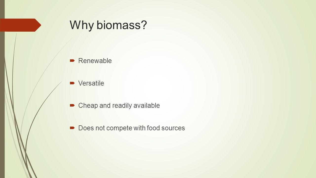 Why biomass.