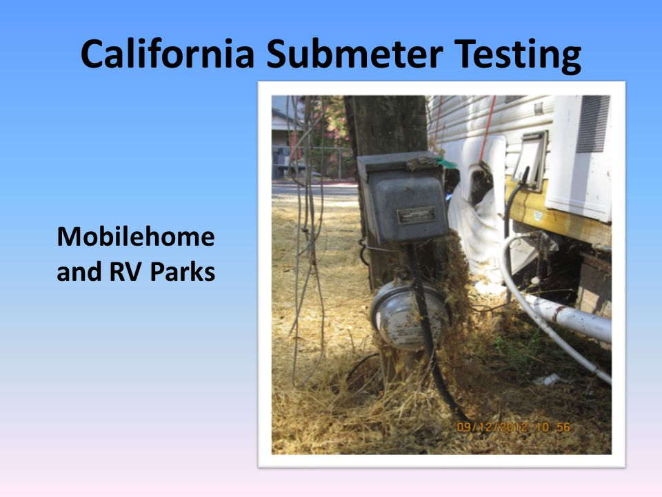 California Submeter Testing Mobilehome and RV Parks
