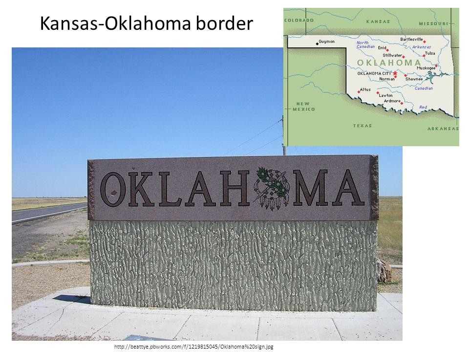 http://beattye.pbworks.com/f/1219815045/Oklahoma%20sign.jpg Kansas-Oklahoma border