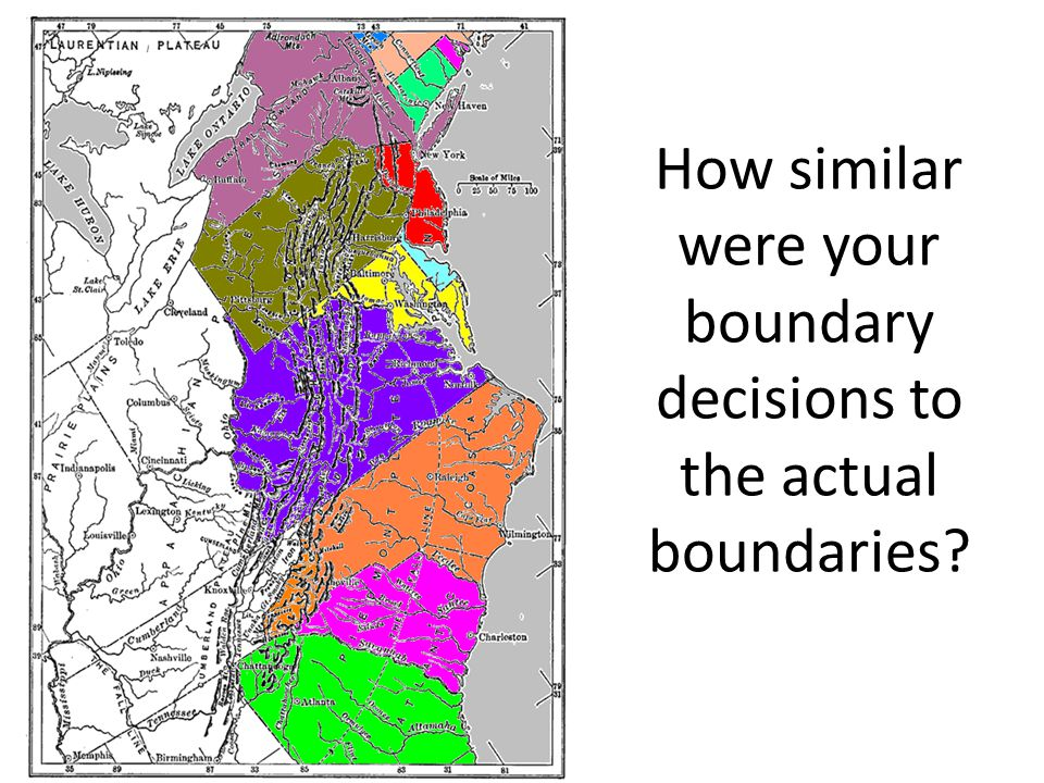 How similar were your boundary decisions to the actual boundaries?