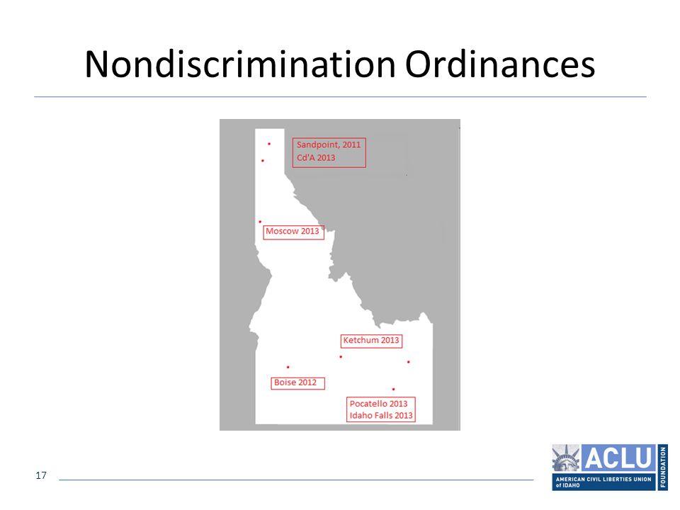 17 Nondiscrimination Ordinances