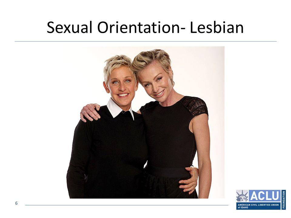 6 Sexual Orientation- Lesbian