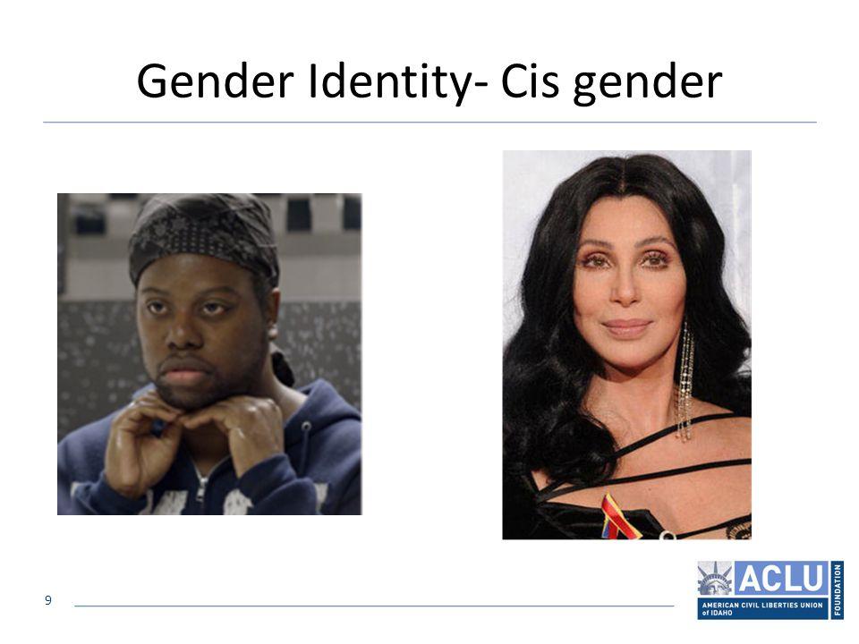 9 Gender Identity- Cis gender