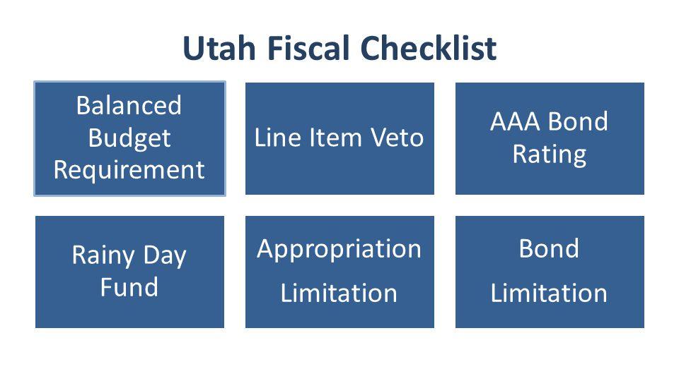 Utah Fiscal Checklist