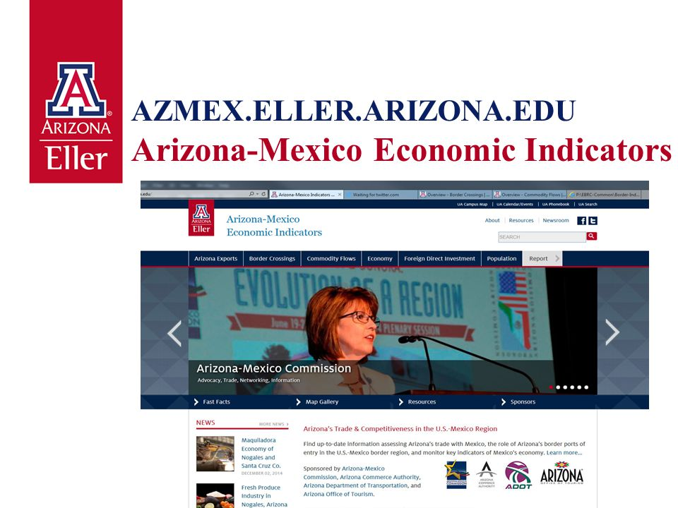 AZMEX.ELLER.ARIZONA.EDU Arizona-Mexico Economic Indicators