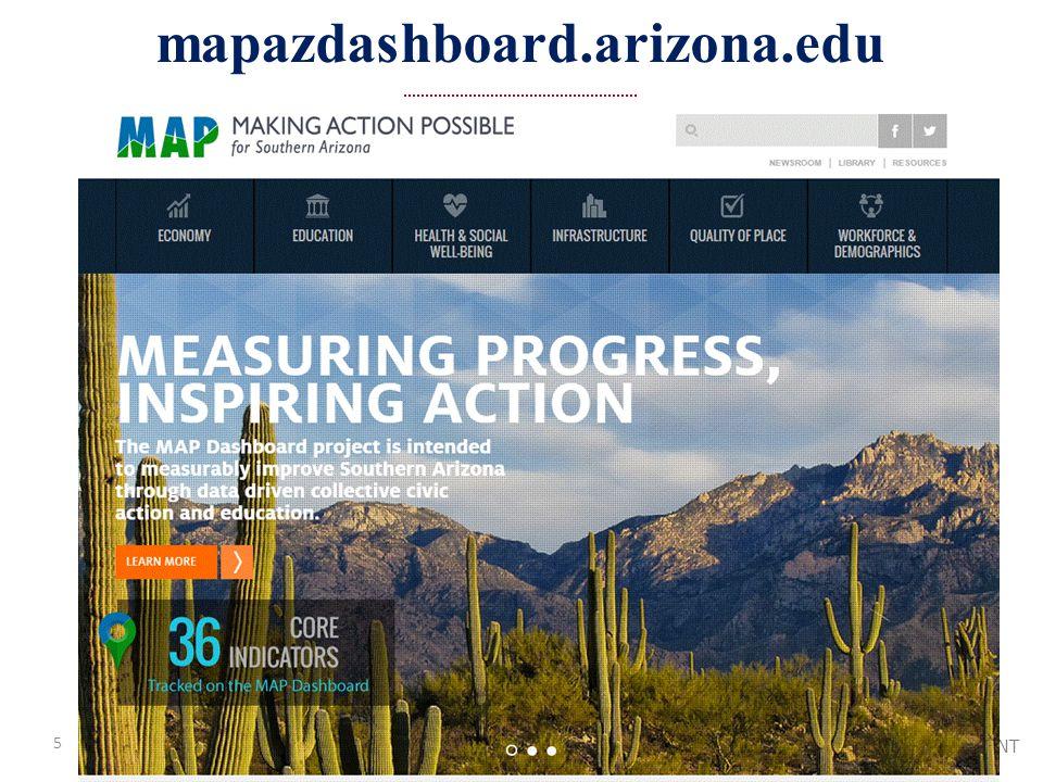 UNIVERSITY OF ARIZONA / ELLER COLLEGE OF MANAGEMENT mapazdashboard.arizona.edu 5