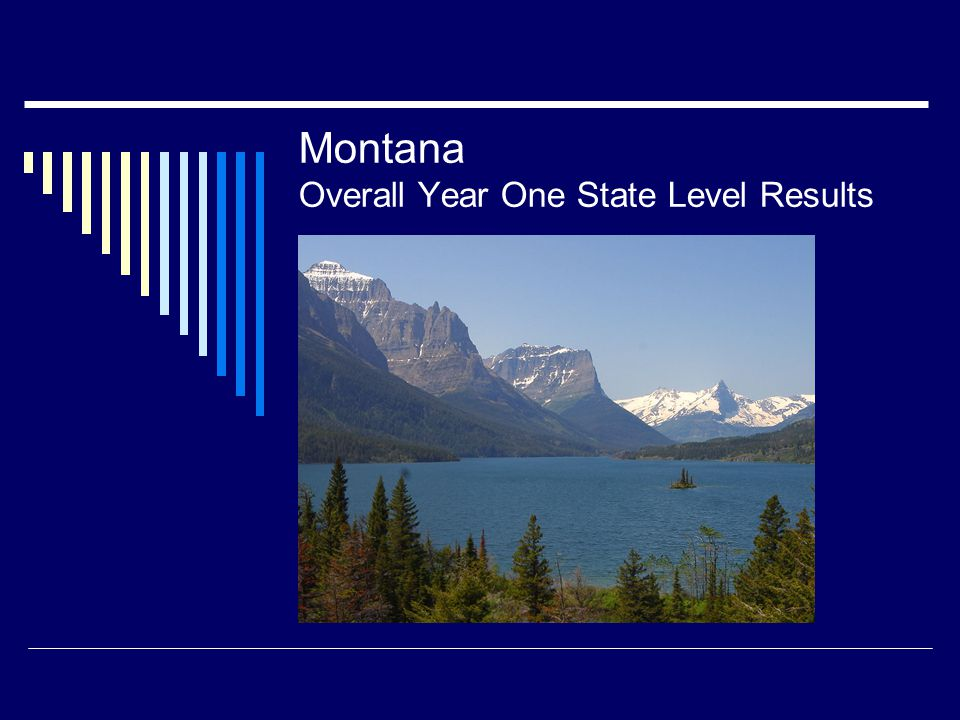 Montana Overall Year One State Level Results