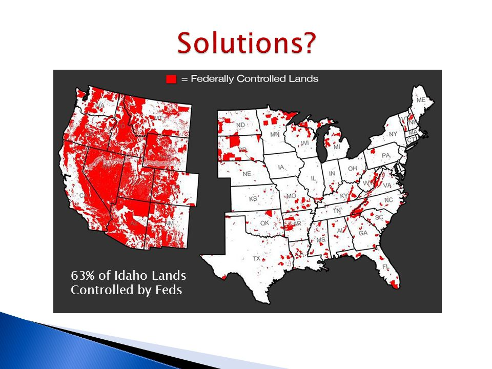 63% of Idaho Lands Controlled by Feds