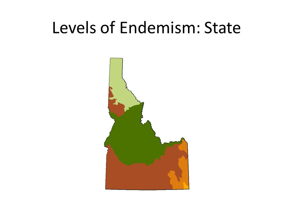 Levels of Endemism: State