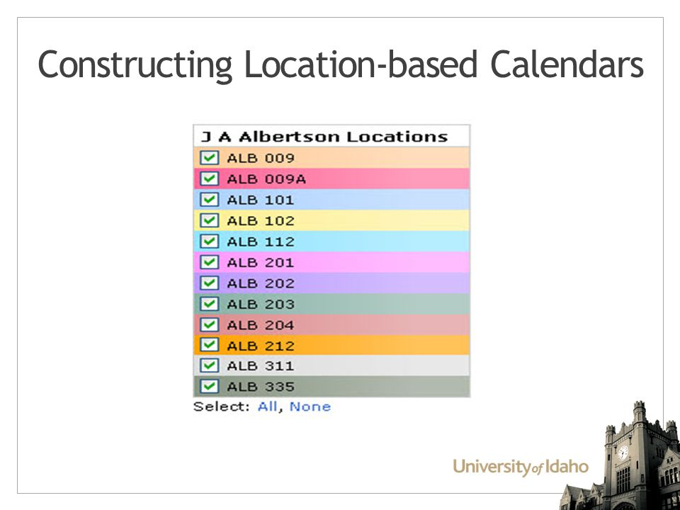 Constructing Location-based Calendars