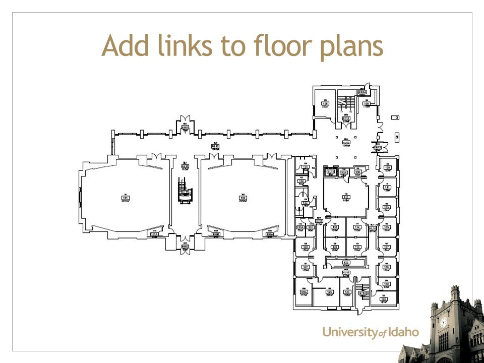 Add links to floor plans