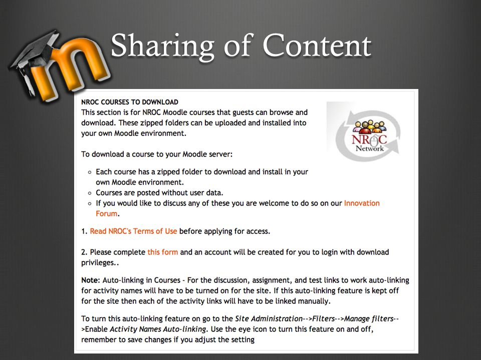 Sharing of Content