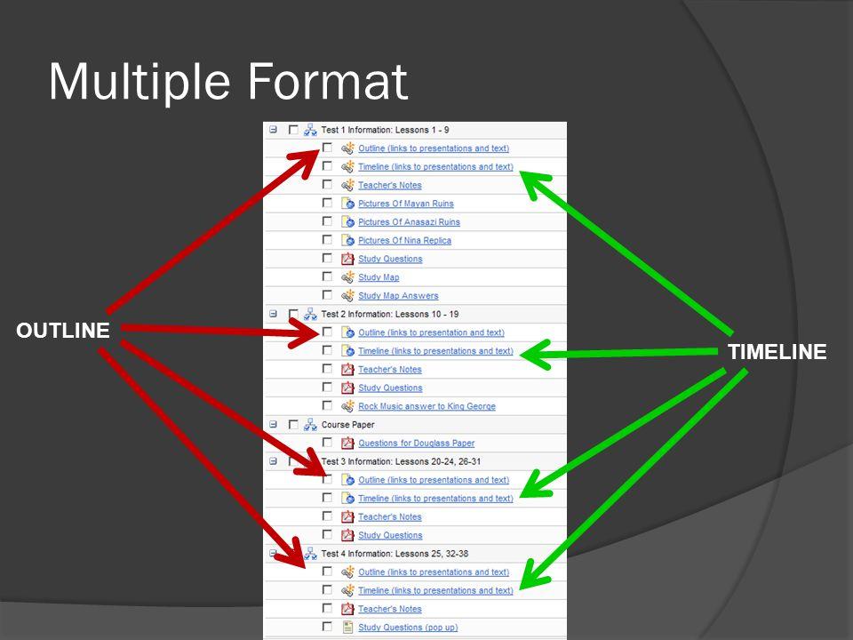 Multiple Format OUTLINE TIMELINE