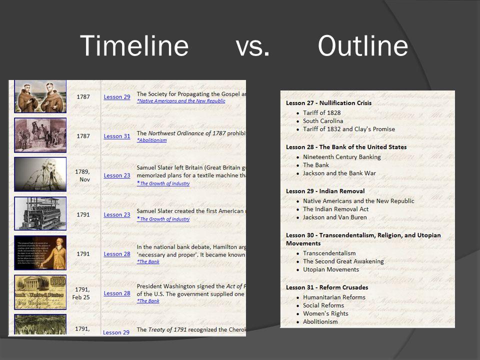 Timeline vs. Outline
