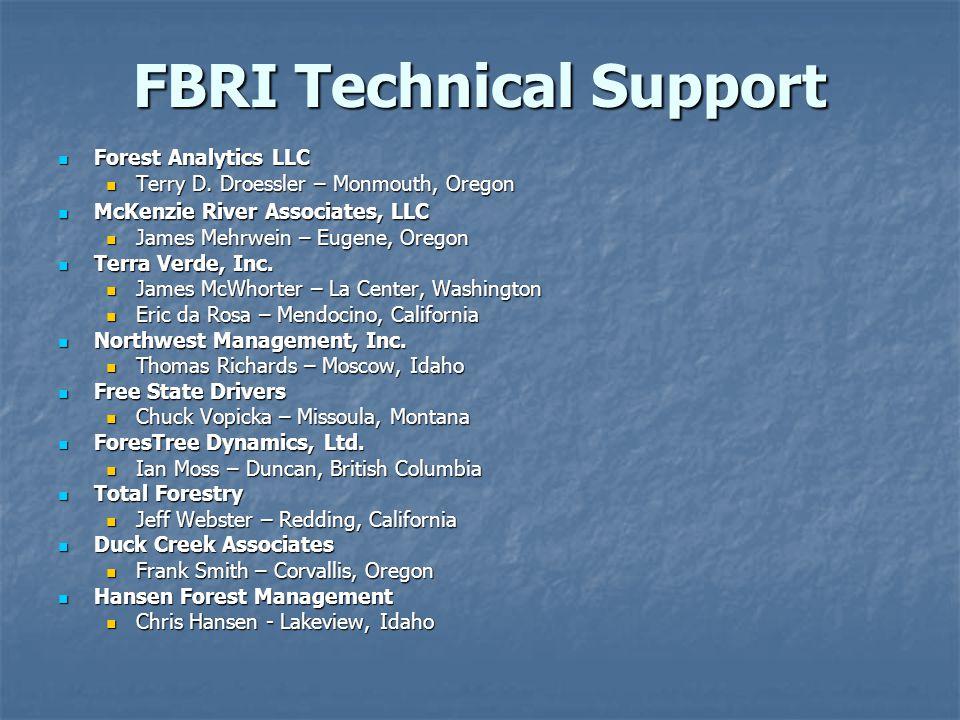 FBRI Technical Support Forest Analytics LLC Forest Analytics LLC Terry D.