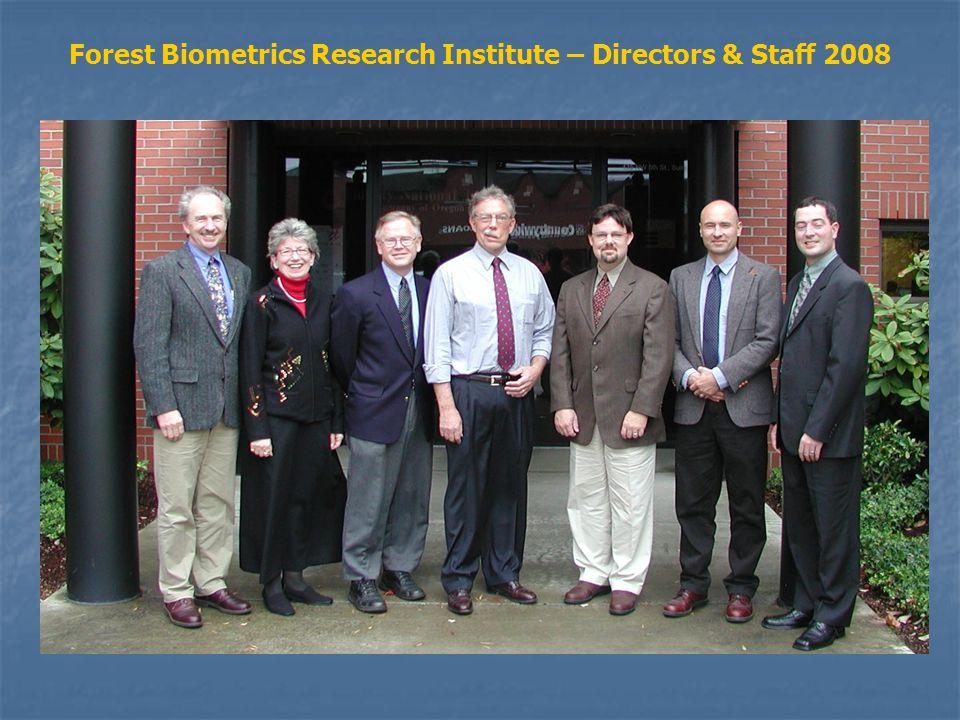 Forest Biometrics Research Institute – Directors & Staff 2008
