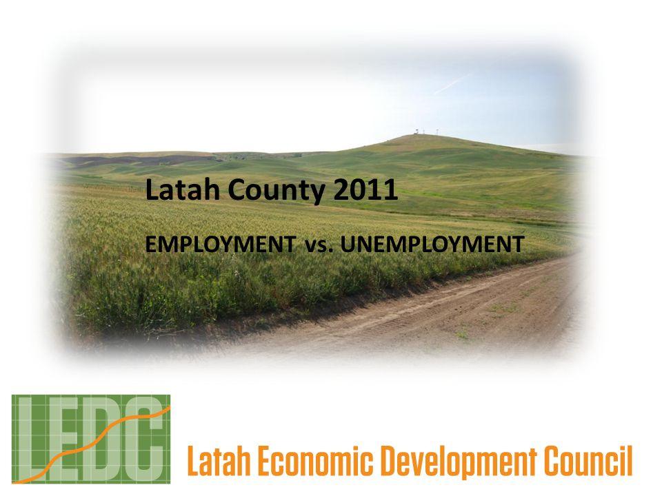 Latah County 2011 EMPLOYMENT vs. UNEMPLOYMENT