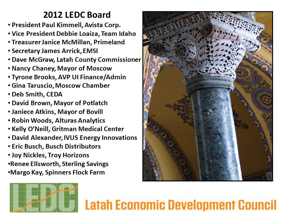 2012 LEDC Board President Paul Kimmell, Avista Corp.