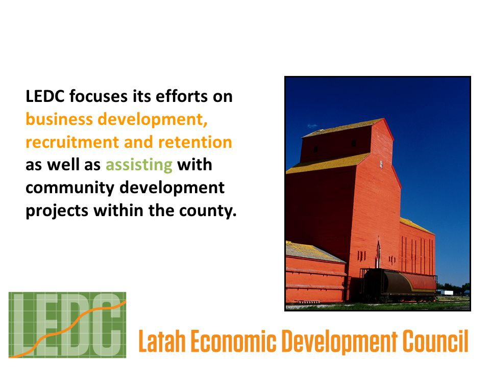LEDC focuses its efforts on business development, recruitment and retention as well as assisting with community development projects within the county.