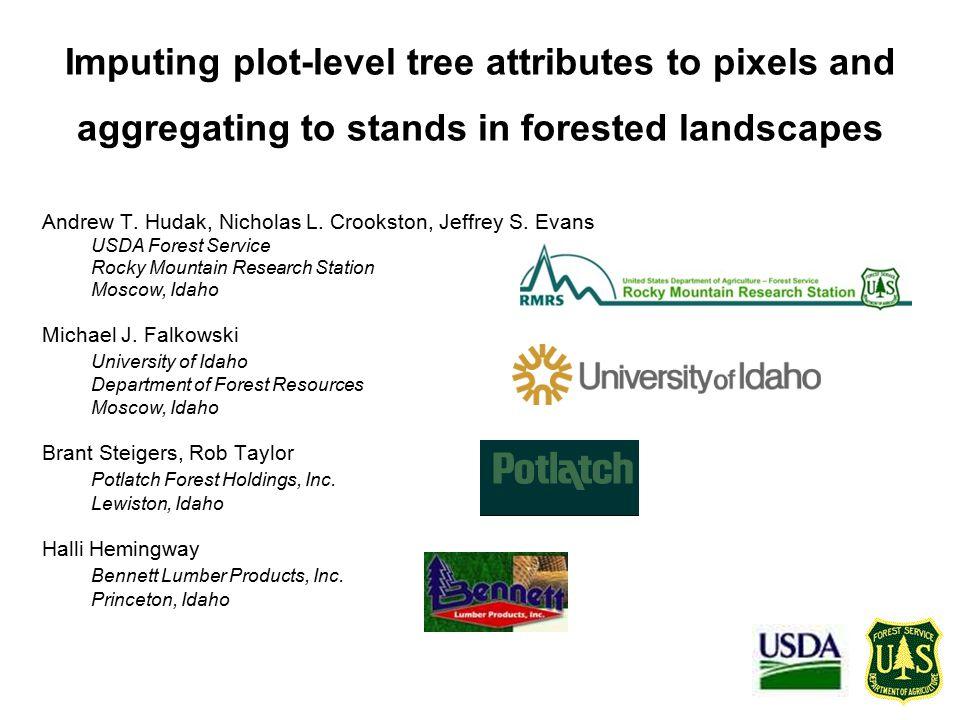 Outline LiDAR for Precision Forest Management Regression-based basal area prediction LiDAR-derived predictor variables randomForest-based basal area prediction Aggregating to the stand level Imputation-based basal area prediction