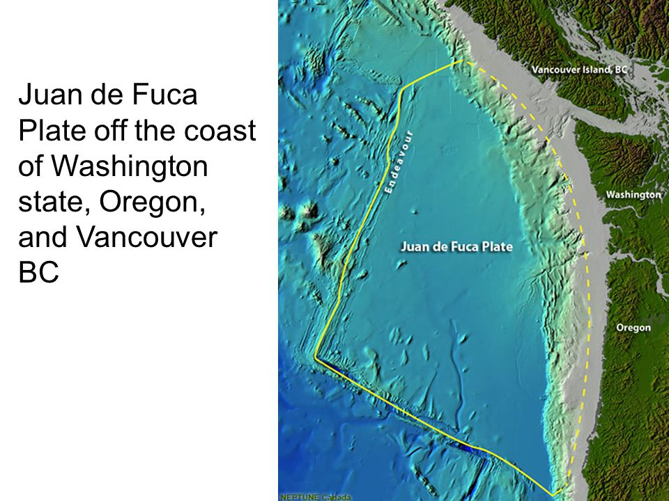Juan de Fuca Plate off the coast of Washington state, Oregon, and Vancouver BC