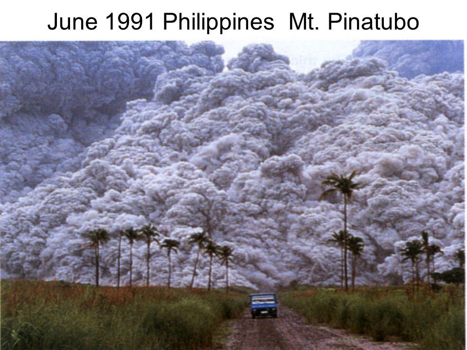 June 1991 Philippines Mt. Pinatubo