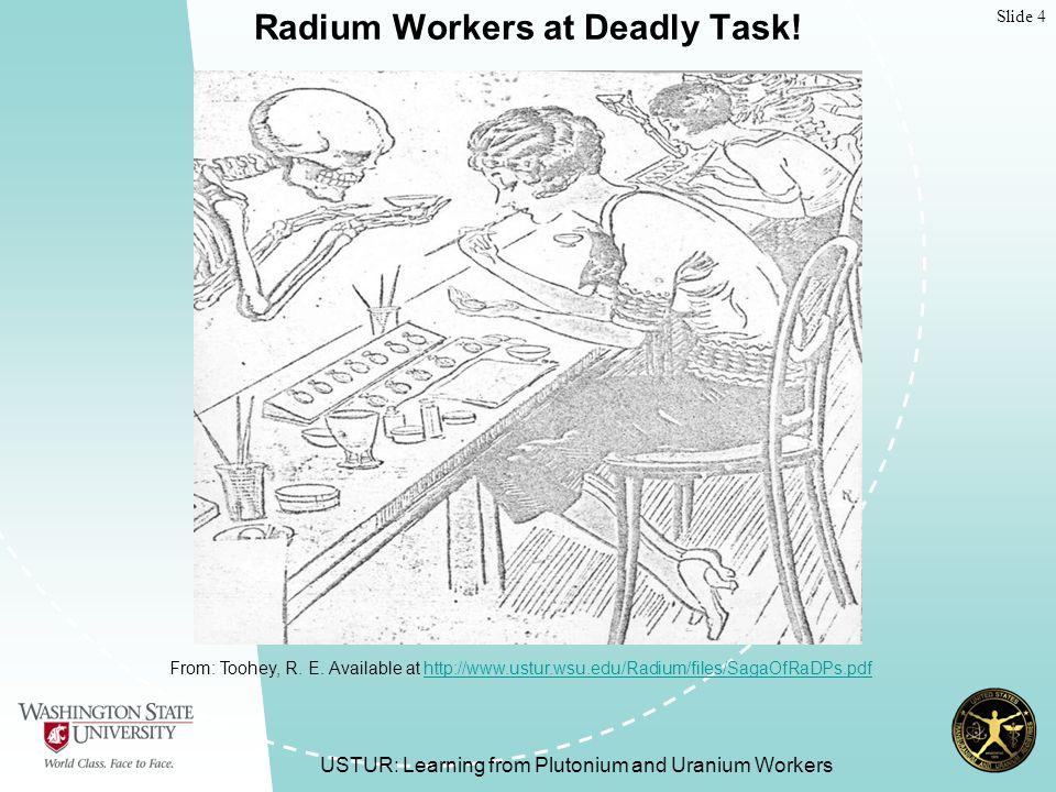 Slide 15 USTUR Registrant Status USTUR: Learning from Plutonium and Uranium Workers As of September 30 th, 2008 Total Active (Living) and Deceased Registrants: 423 Living Registrants: 95 Potential Partial-body Donors: 74 Potential Whole-body Donors: 14 Special Studies: 7 Deceased Registrants: 328 Partial-body Donations: 288 Whole-body Donations: 35 Special Studies: 5 Inactive Registrants: 447 Total Number of Registrants: 870