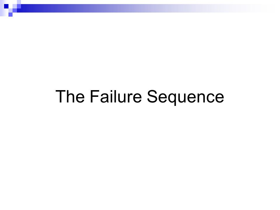 The Failure Sequence