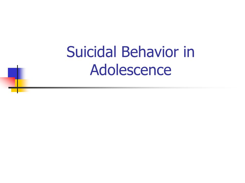 Completed Suicide: Rates/100,000 (N) by Gender & Ethnicity, Ages 15-19, 2003 CaucasianBlackAm Indian/ Alaska Native Males12.65 (1,047) 6.55 (107) 24.65(37) Females2.91 (227) 0.88 (14) 8.97 (13)