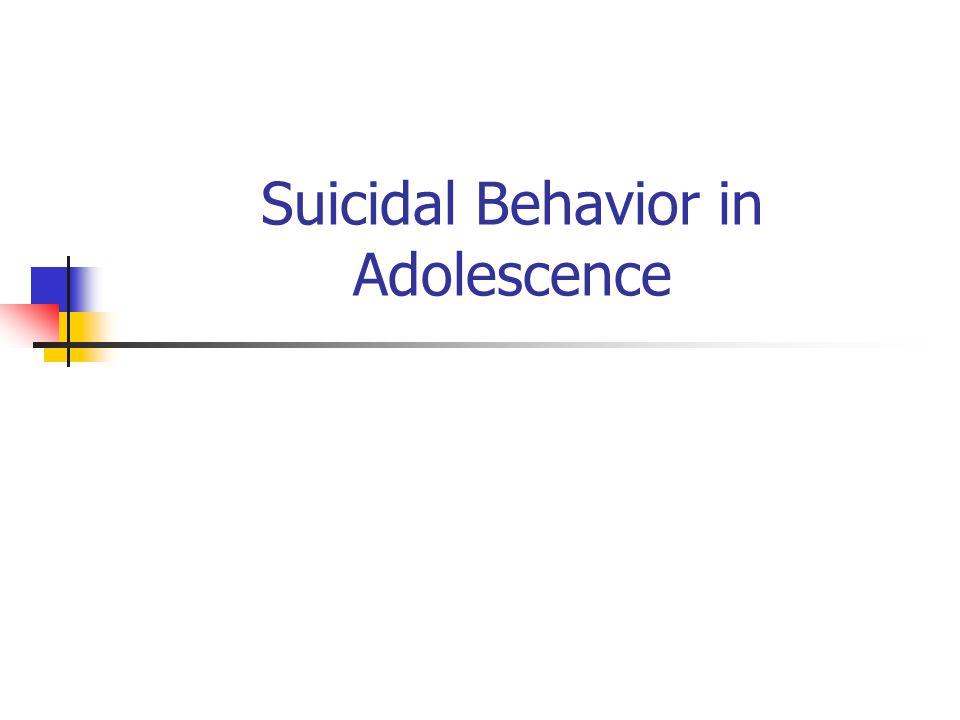Risk Factors: Predisposing Factors Ethnic / racial differences: Males, 2003 CaucasianBlackHispanic Suicide Attempts 3.7%7.76.1 Suicide Plan 13.9%8.414.6 Suicidal Ideation 12.0%10.312.9 Sad/ Hopeless 19.6%21.725.9