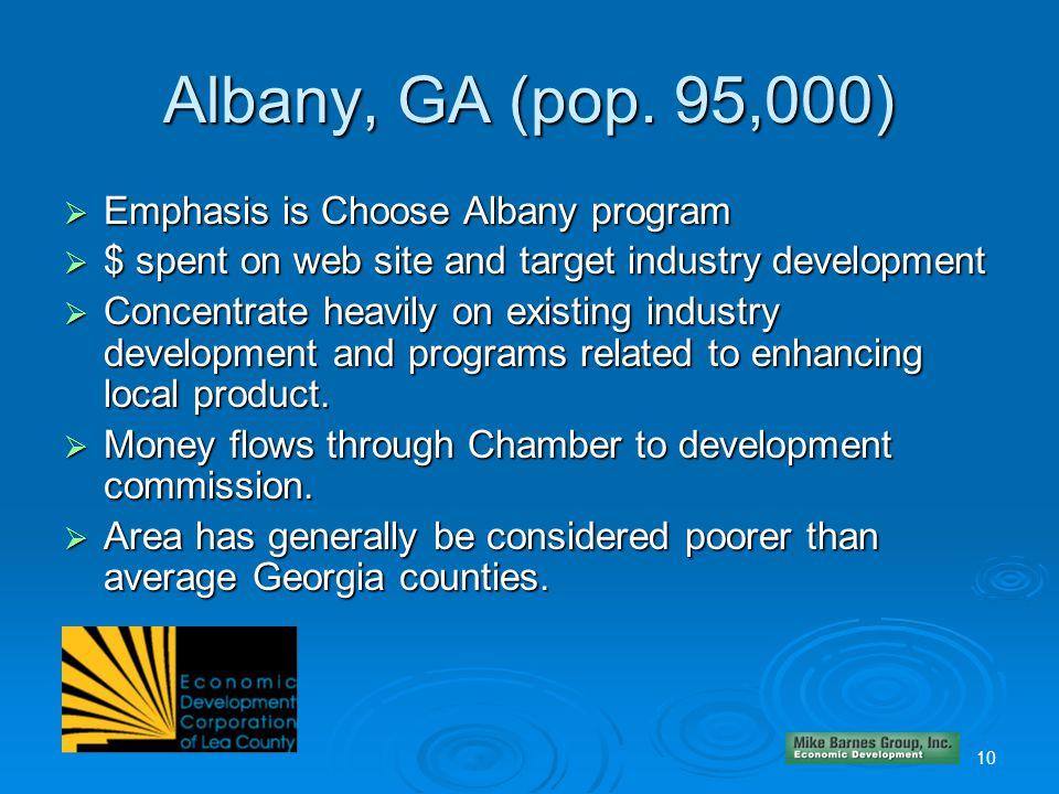 10 Albany, GA (pop.