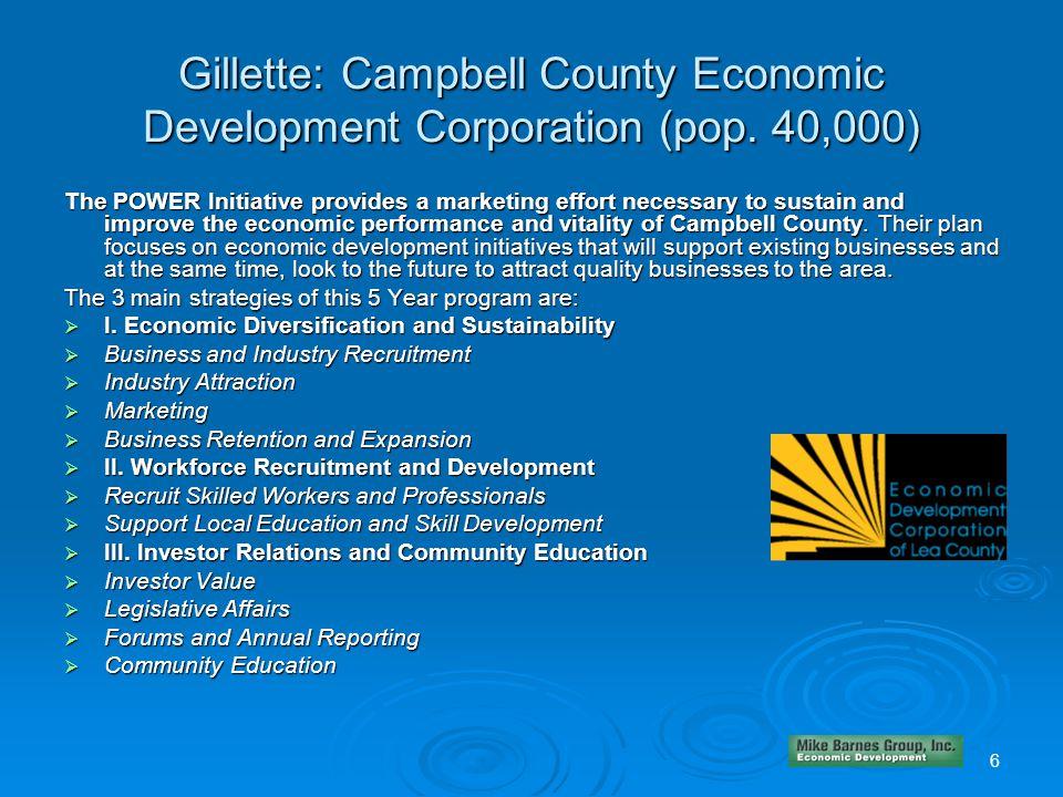 Gillette: Campbell County Economic Development Corporation (pop.