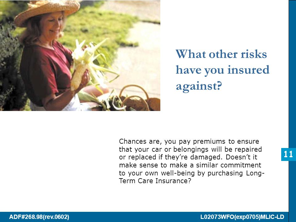 ADF#268.98(rev.0602) L02073WFO(exp0705)MLIC-LD What other risks have you insured against.