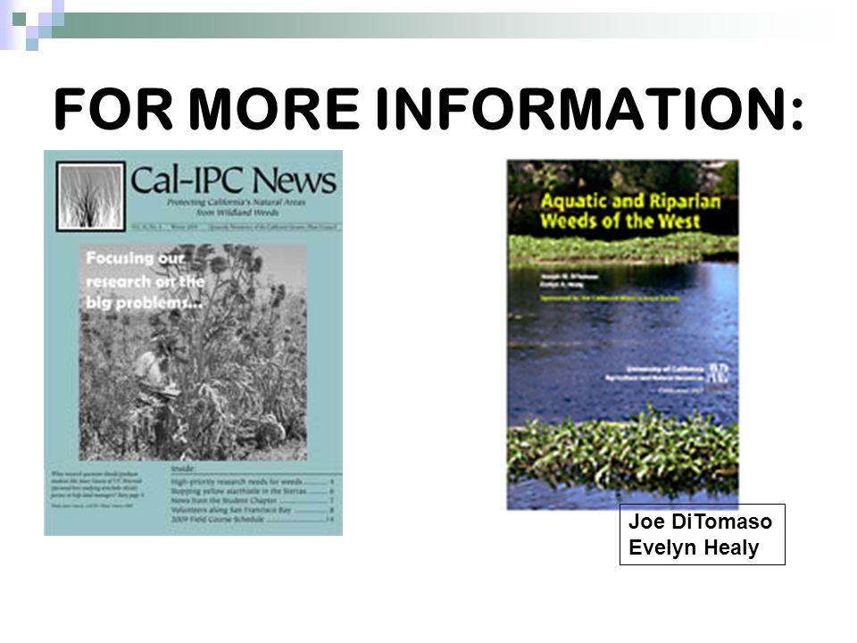 FOR MORE INFORMATION: CAL IPC UC DAVIS Joe DiTomaso Evelyn Healy