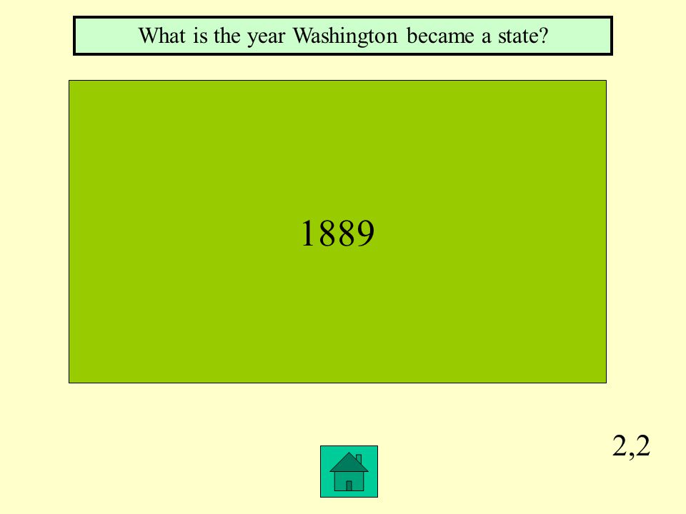 2,2 1889 What is the year Washington became a state?