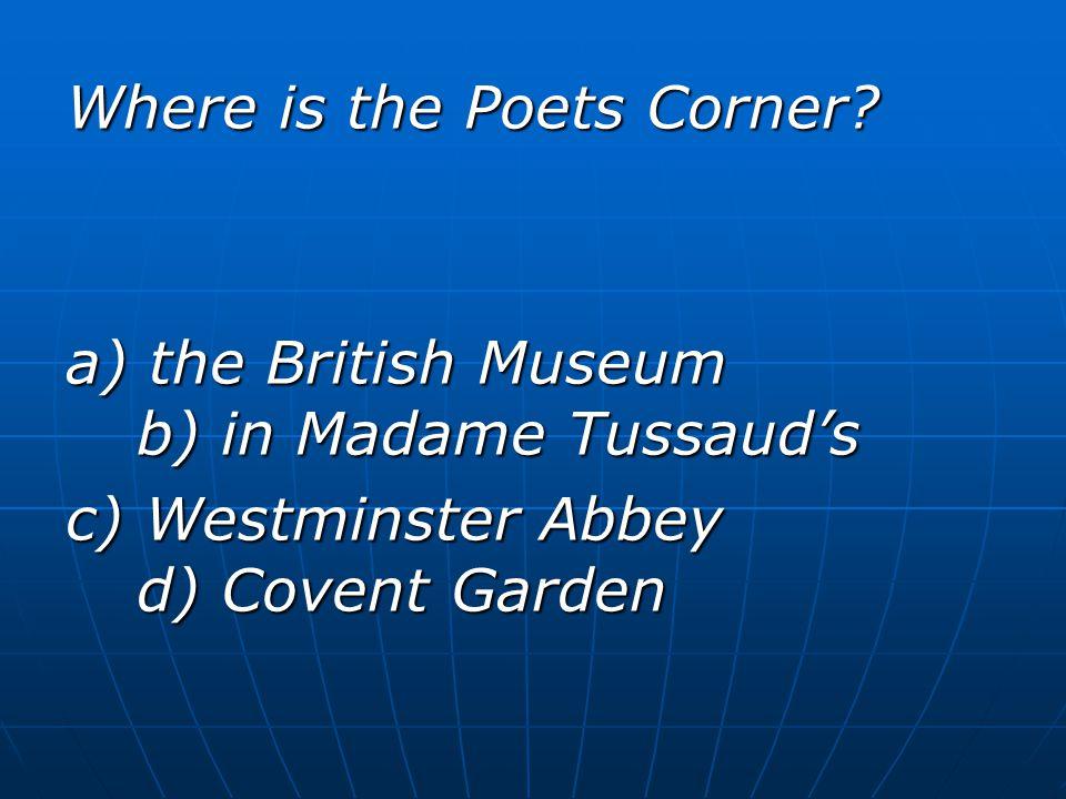 Where is the Poets Corner.