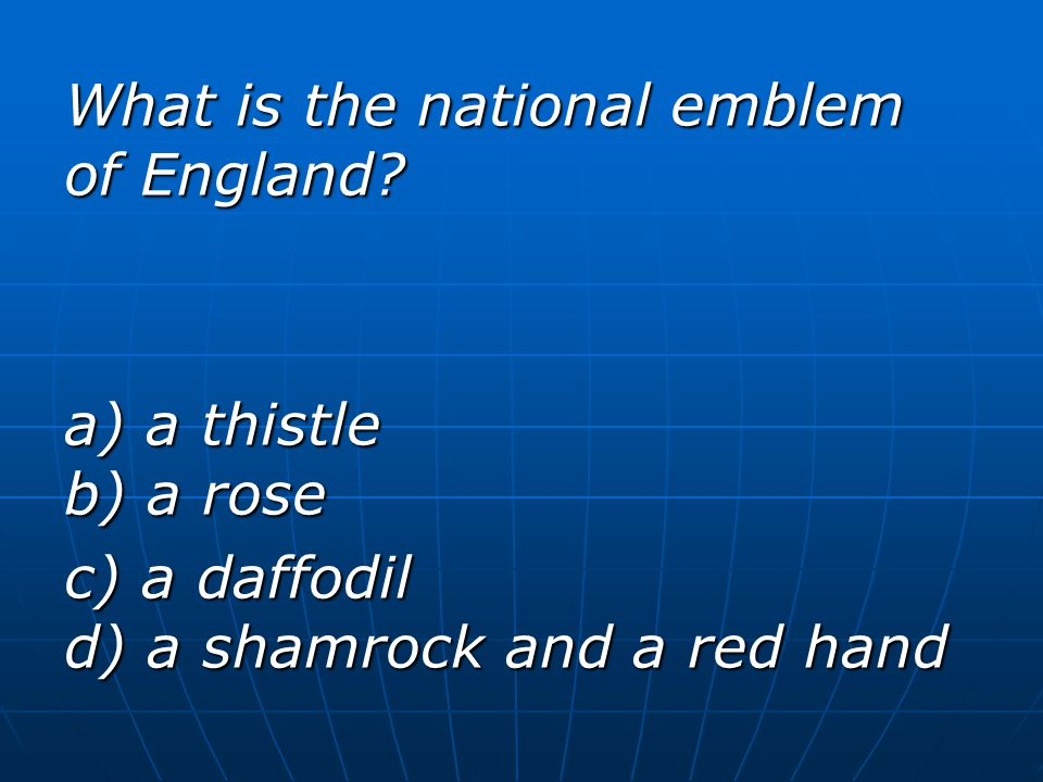 What is the national emblem of England.