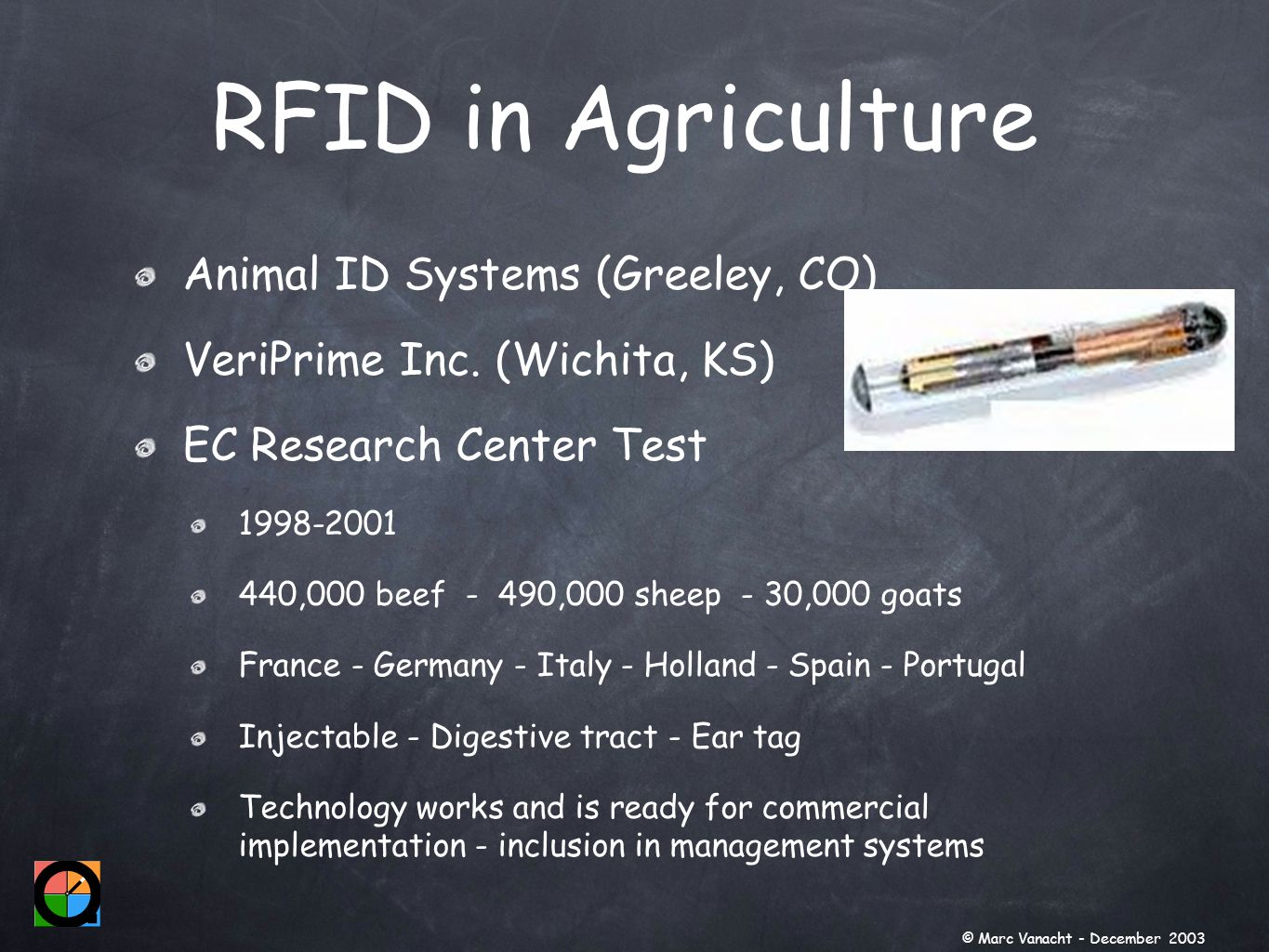 Animal ID Systems (Greeley, CO) VeriPrime Inc.