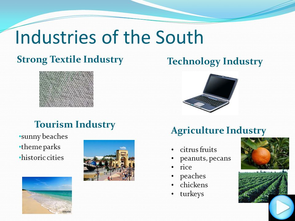 Resources of the South bauxite shellfish timber salt cattle sulfur lead zinc