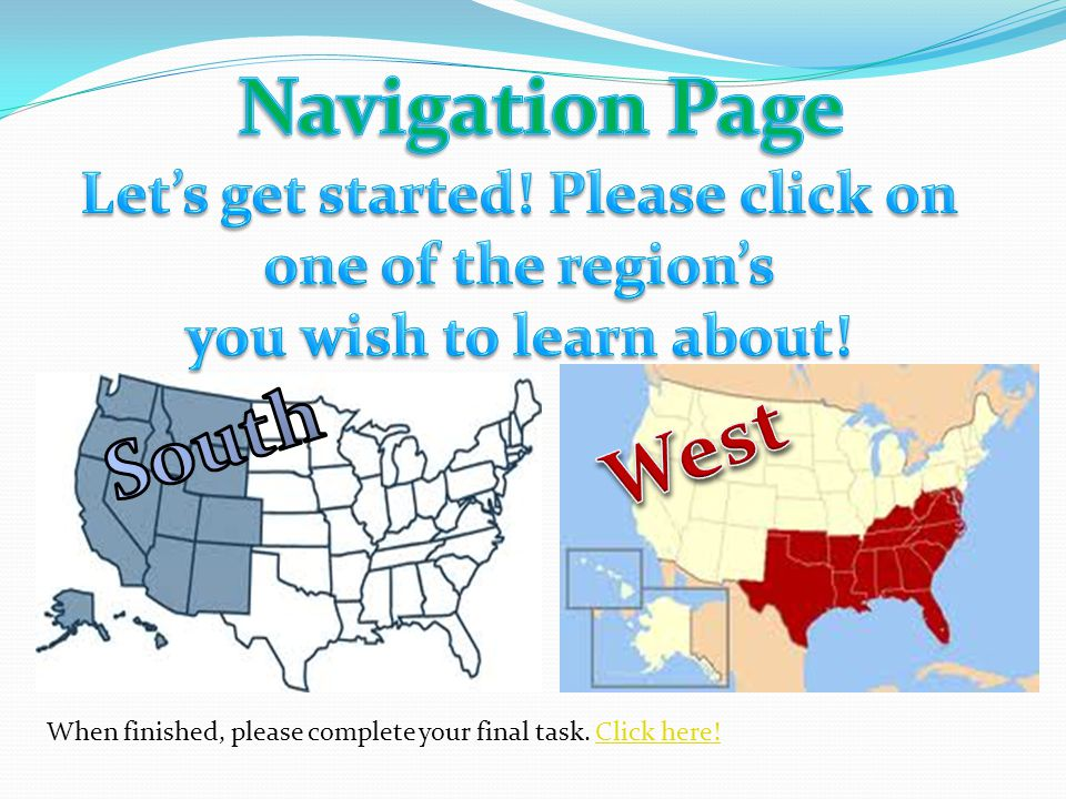 Introduction Western Region of the U.S. Southern U.S. Region Before we dig into the West and South region of the U.S. lets watch a video on these regi