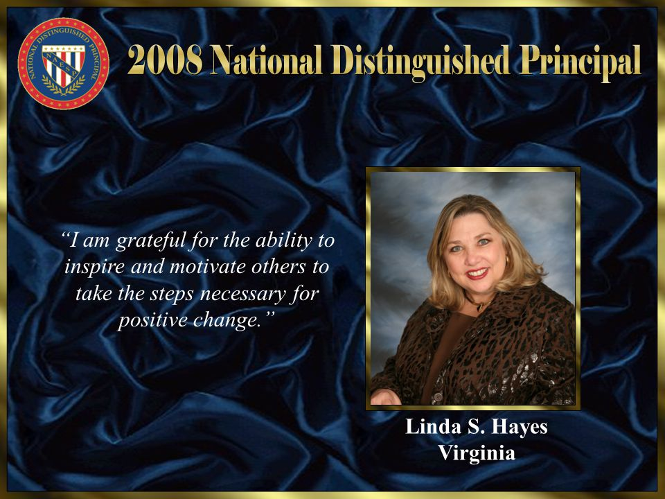"Linda S. Hayes Virginia ""I am grateful for the ability to inspire and motivate others to take the steps necessary for positive change."""