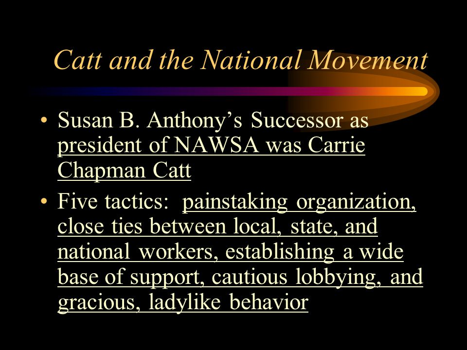 Catt and the National Movement Susan B.