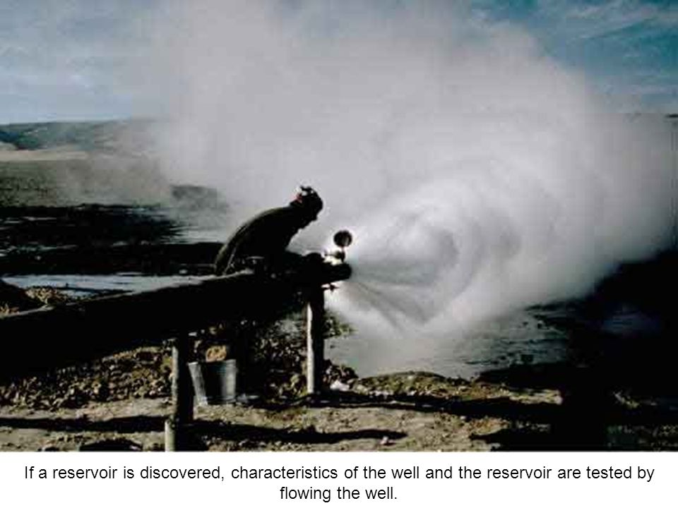If a reservoir is discovered, characteristics of the well and the reservoir are tested by flowing the well.