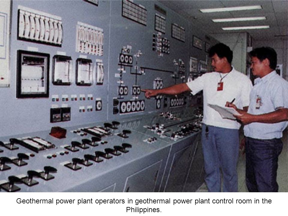 Substation with transformer and insulators, at a geothermal power plant.