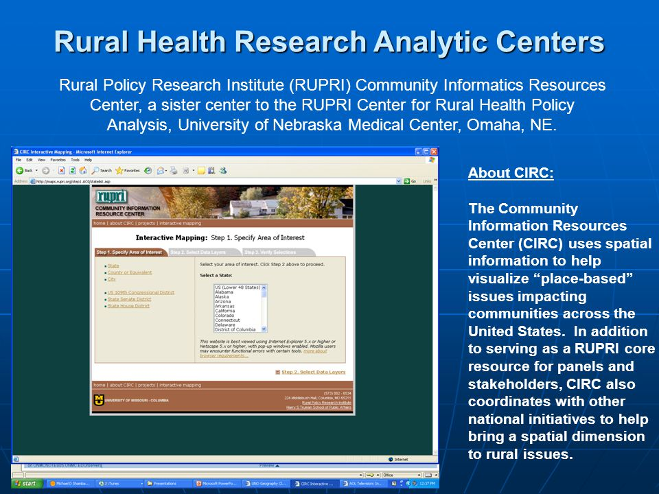 About CIRC: The Community Information Resources Center (CIRC) uses spatial information to help visualize place-based issues impacting communities across the United States.