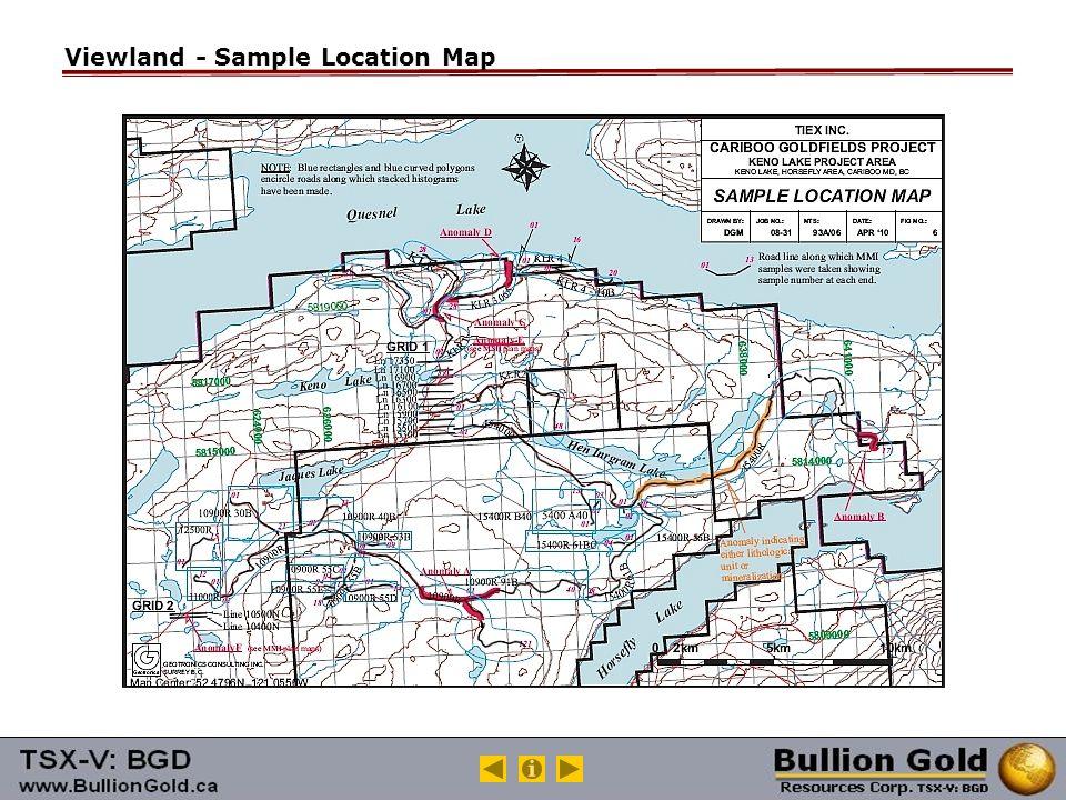 Viewland - Sample Location Map