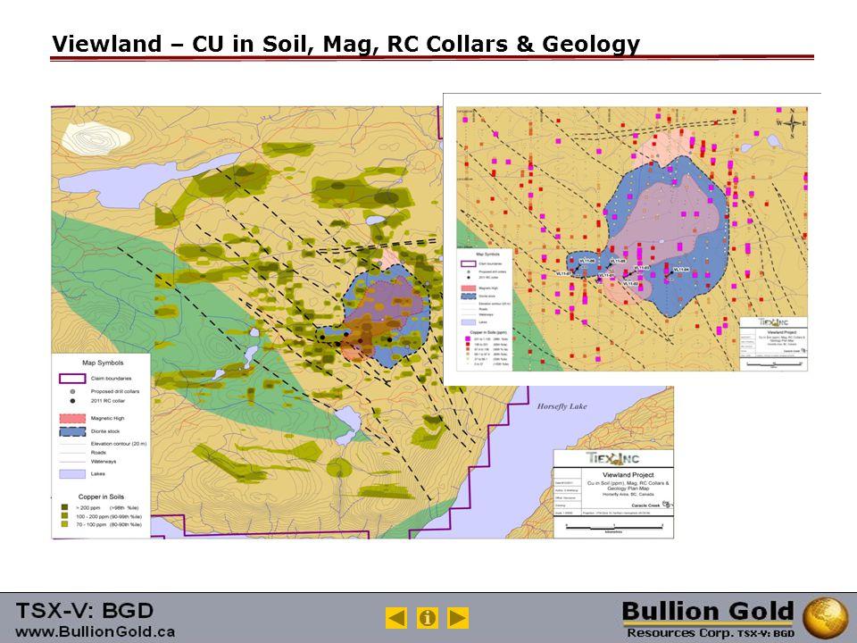 Viewland – CU in Soil, Mag, RC Collars & Geology