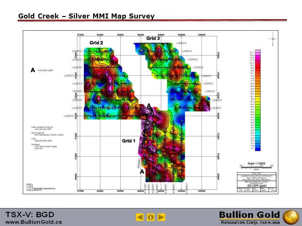 Gold Creek – Silver MMI Map Survey