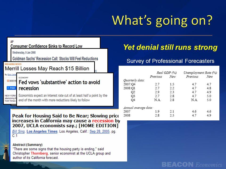 Consumers: Weak, but not recession weak