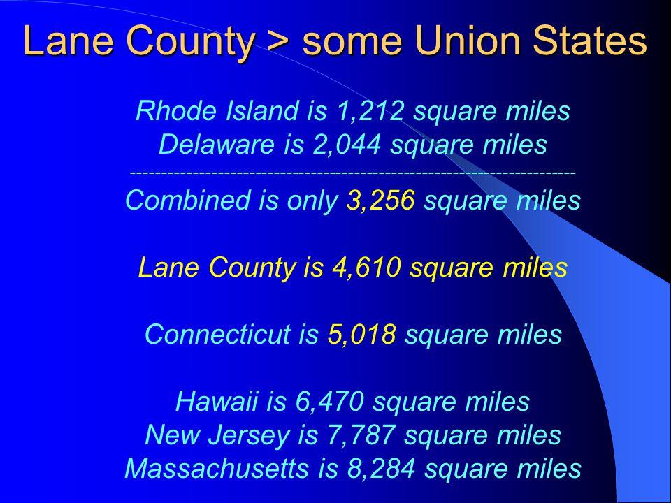 Subdividing Lane County